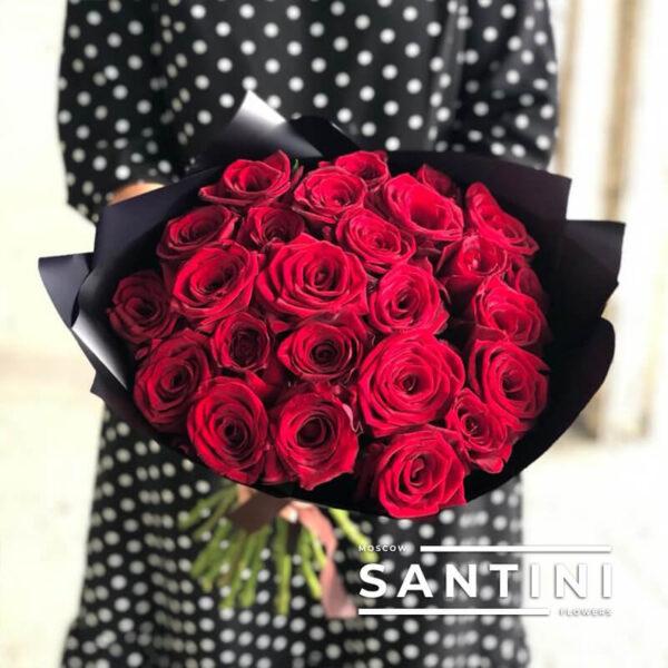 "<span style=""color: #ff0000;"">ХИТ</span> - Букет из 25 роз Red Naomi"