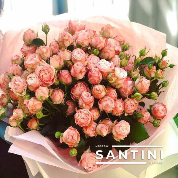 Букет из пионовидных кустовых роз Madam Bombastic
