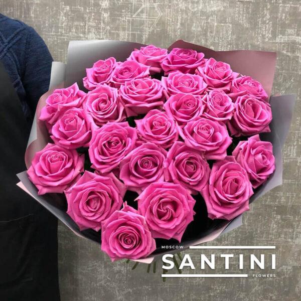 Букет из 25 розовых роз Aqua