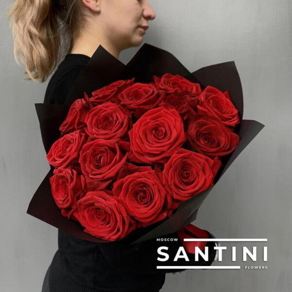 "<span style=""color: #ff0000;"">ХИТ</span> - Букет из 15 роз Red Naomi"