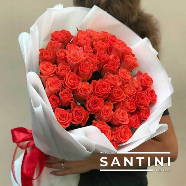 Букет из 51 розы Wow