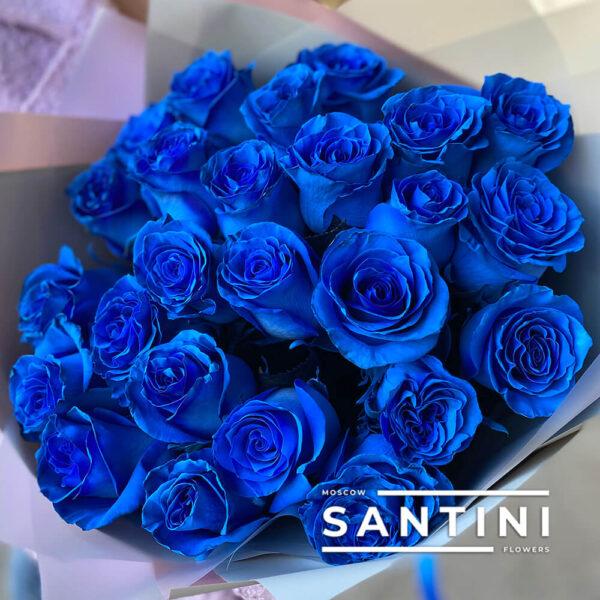 Букет из 25 роз Blue