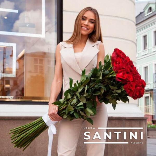 "<span style=""color: #ff0000;"">ХИТ</span> - Высокие розы - 1 метр"