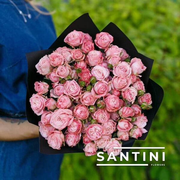 Букет пионовидных кустовых роз Madam Bombastic