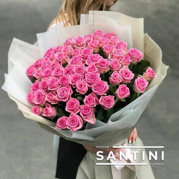 51 роза Aqua 70 см
