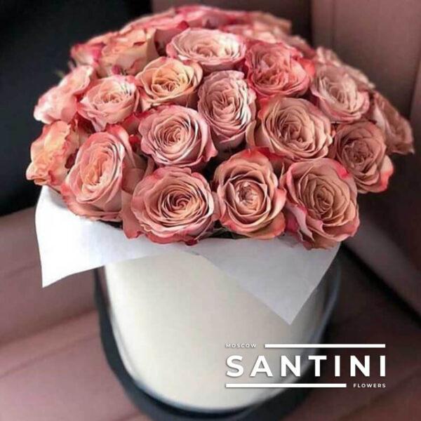 Коробка из 39 роз Cappucino