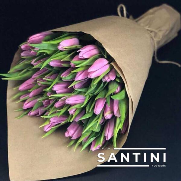 Букет из 51 тюльпана Violet