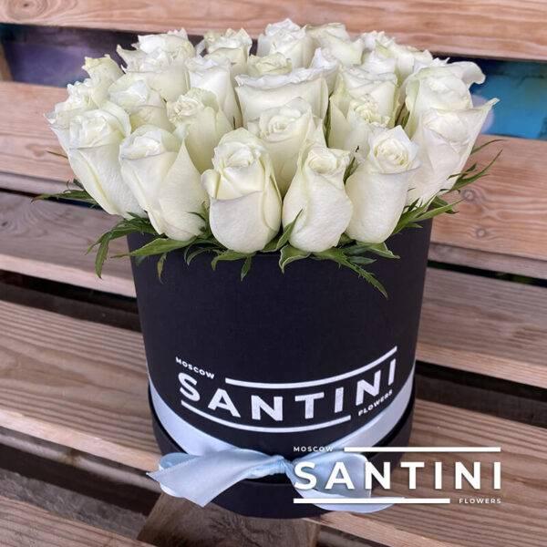 Коробка из 39 кенийских роз White