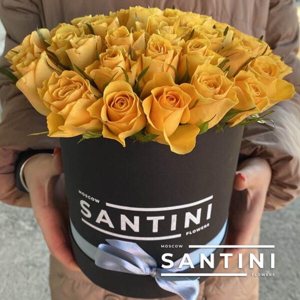 Коробка из 39 кенийских роз Yellow