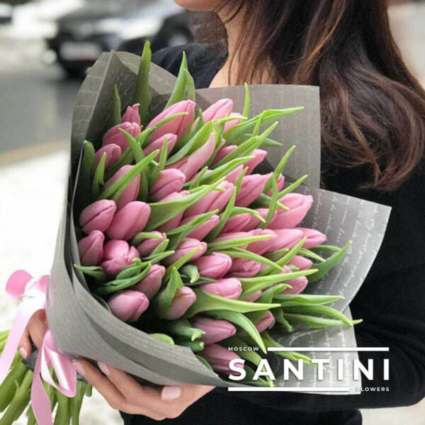 51 розовый тюльпан Dynasty
