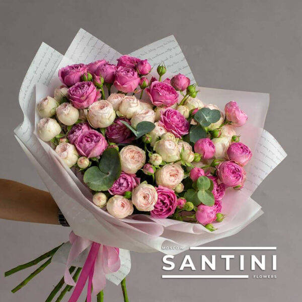 Пионовидные розы MIX