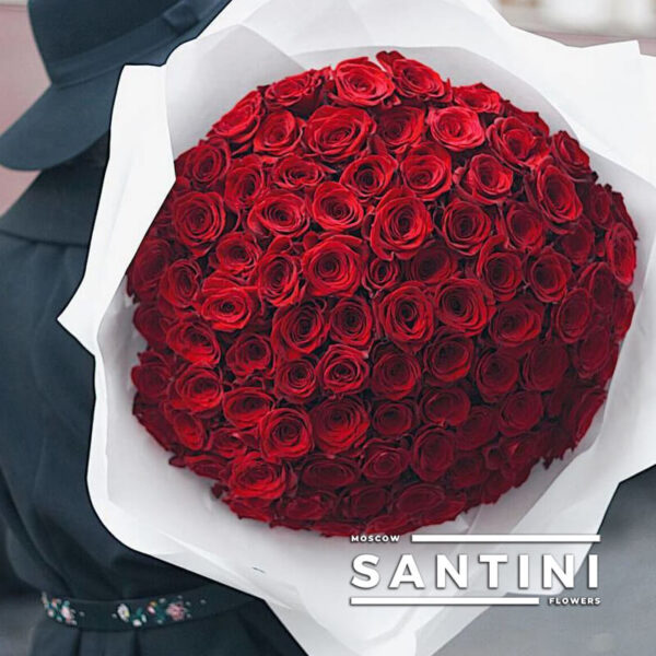 "<span style=""color: #ff0000;"">ХИТ</span> - 101 красная роза Red Naomi 50 см"