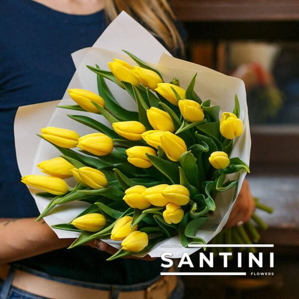 "25 желтых тюльпанов ""Уellow-Сharm"""