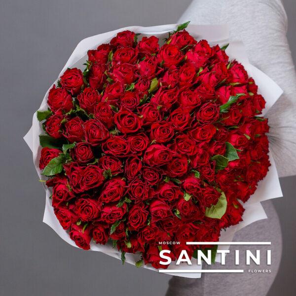 """<span style=""""color: #ff0000;"""">ХИТ</span> - 101 красная кенийская роза Red"""