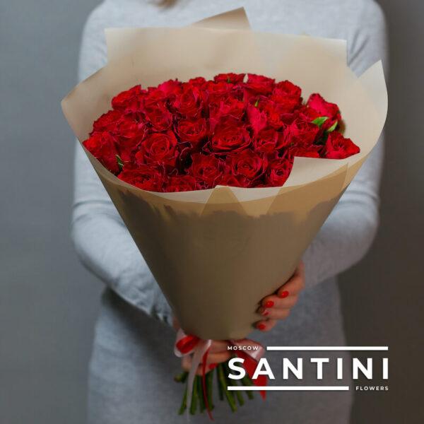 "<span style=""color: #ff0000;"">ХИТ</span> - Букет из 35 красных кенийских роз Red"