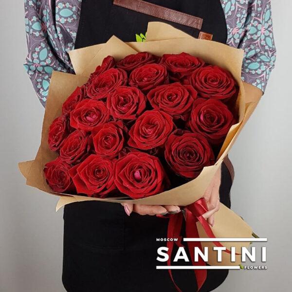 купить 19 красных роз с доставкой