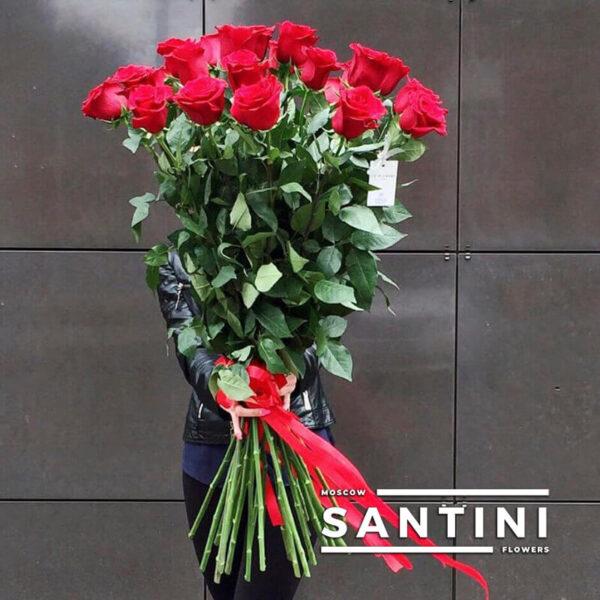 """<span style=""""color: red; font-weight:900;"""">ХИТ</span> 🔥 - Букет из 19 высоких роз - метровые розы"""