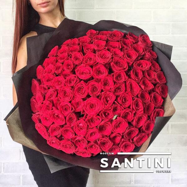 "<span style=""color: #ff0000;"">ХИТ</span> - 101 красная роза Red Naomi 70 см"