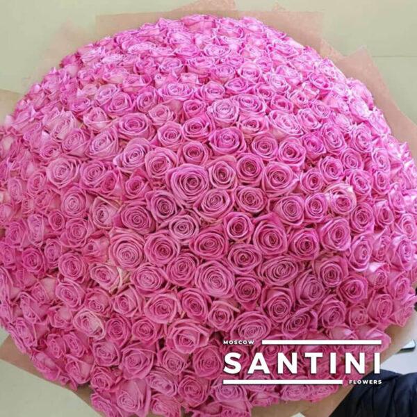 201 розовая роза 80 см